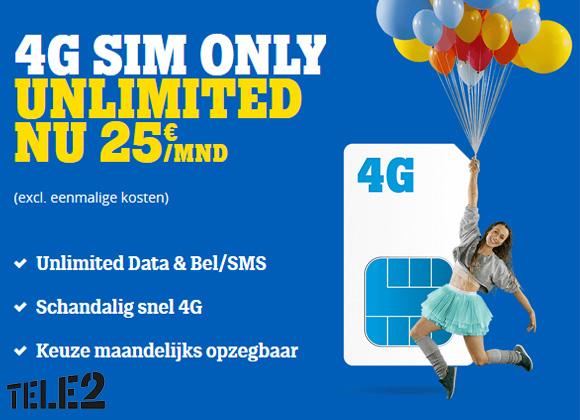 Tele2 Sim Only onbeperkt
