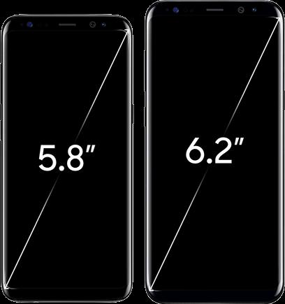 Samsung galaxy s8 en s8 plus - scherm formaten
