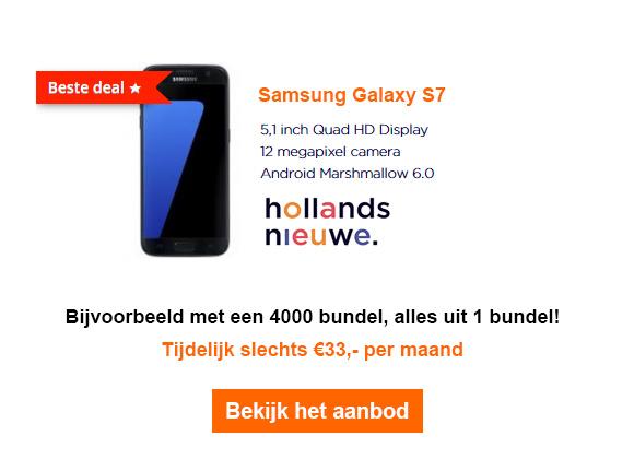 Samsung S7 hollandsnieuwe